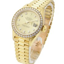 Rolex Used President Ladies with Original Diamond Bezel