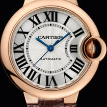 Cartier Ballon Bleu De Cartier 18K Pink Gold Silver Dial 33mm M