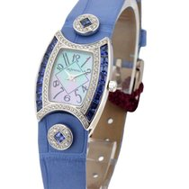 DeLaneau First Lady White Gold with MOP Dial