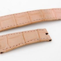 Rolex CROCO Lederband für Faltschließe , rosa  20/16 mm