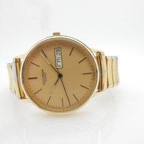 Bulova Accutron T1 14K Solid Yellow Gold Case Quartz Watch...