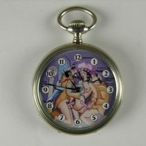 Junghans pocket watch with erotic dial, silver 800 - 1st half...