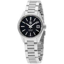 TAG Heuer Carrera Black Dial Stainless Steel Ladies Watch...