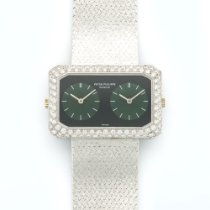 Patek Philippe Vintage  White Gold Diamond, Malachite, &...