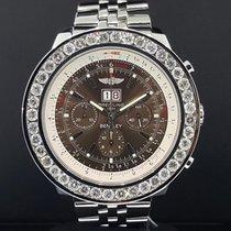 Breitling Bentley 6.75 A44362 Steel Chrono 49mm 6.5 CT Diamond...
