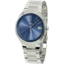 Rado D-star Xl Blue Dial Stainless Steel Men's Watch...