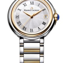 Maurice Lacroix Fiaba. 32, Roman Index, Silver Dial, Gold...