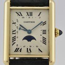 Cartier TANK QUARTZ CALENDAR MOON PHASE YELLOW GOLD 18K