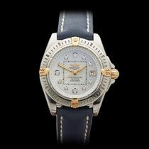 Breitling Cockpit Diamonds Stainless Steel/18k Yellow Gold...