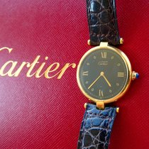 Cartier GELBGOLD 18K 750 ELEGANTE LUXUS UNISEX ARMBANDUHR 30MM