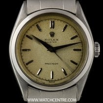 Rolex S/S Manual Wind Rare Oyster Precision Vintage 6022