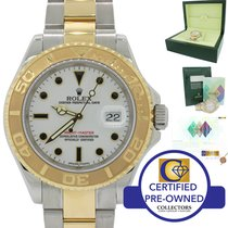 Rolex Yacht-Master 18k Gold Steel 16623 White Two Tone Watch