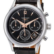 Longines Heritage Chronograph Automatic Steel Mens Strap Watch...