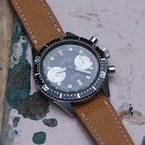 Marvin vintage black dial 2-register chronograph with rotating...