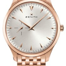 Zenith Elite Ultra Thin Rose Gold Silver Dial 40mm Men's...