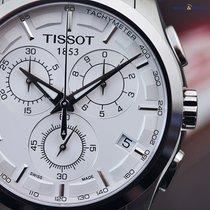 Tissot Men's Couturier Chrono Quartz  41mm White Steel on...