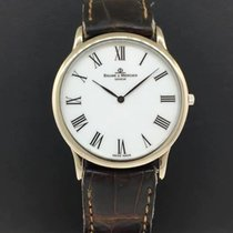 Baume & Mercier Geneve 18k White Gold Case Leather Strap...