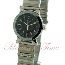 Movado Vizio Ladies, Black Dial - Stainless Steel on Bracelet