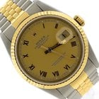Rolex DateJust 16233 Two-Tone 18K Gold Stainless Jubilee Roman...