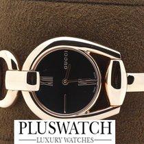 Gucci Horsebit Pink Gold Black Dial YA139507 T