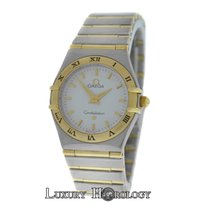 Omega Ladies  Constellation 25mm Two Tone 18K Gold Full Bar