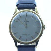 Omega Herren Uhr Handaufzug 37mm 18k 750 Massiv Gold Vintage...