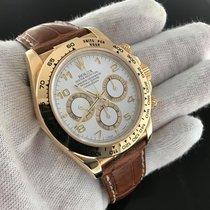 Rolex Daytona 116518 Yellow Gold on Strap 'A' Serial...
