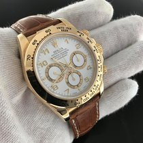 Rolex Daytona 116518 Yellow Gold On Strap 'a' Serial...