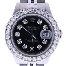 Rolex Datejust 69240 26 Mm Custom Diamonds Dial & Bezel