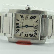 Cartier Tank Francaise Midsize 2465 White     Stainless Steel ...