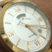 Maurice Lacroix Pt6058 Ps101 11e Pontos Day Date 18 K Gold Ss...