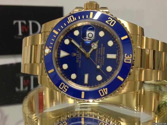 Rolex Submariner Date Yellow Gold 2013 Unused 40mm 116618LB