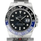 Rolex GMT-Master II Stainless Steel Black & Blue Batman...