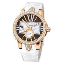 Ulysse Nardin Executive Lady 18K Rose Gold Diamond Automatic...