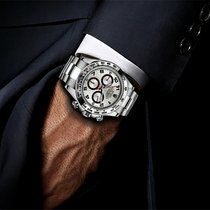 Rolex Cosmograph Daytona Silver Arabic Dial White Gold