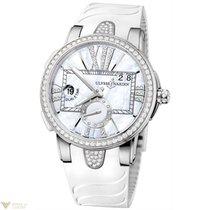 Ulysse Nardin Executive Dual Time Stainless Steel Diamonds...
