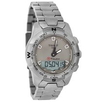 Tissot T-Touch Mens Gray Dial Analog Ditigal Titanium Watch...