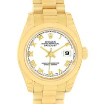Rolex President Datejust Ladies 18k Yellow Gold Watch 179168...