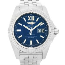 Breitling Windrider Cockpit 41 Blue Dial Mens Steel Watch A49350