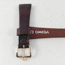 Omega 15mm genuine lizard Omega strap 10mm goldplated Omega...