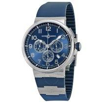 Ulysse Nardin Marine Chronograph Metallic Blue Dial Blue...