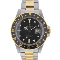 Rolex GMT Master 16753 Two Tone 18k Yellow Gold Stainless...
