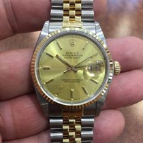 Rolex Oyster Perpetual DateJust 16013 18KY/SS Quickset