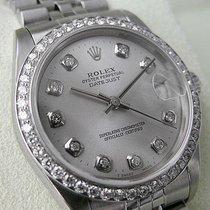 Rolex Datejust 68274 Midsize Steel Diamond Bezel 31mm Silver...