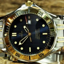 Omega Seamaster Professional Diver 300m Gold Stee Blue Box Papers