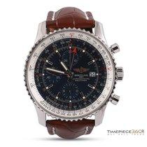 Breitling Navitimer World GMT Chronograph Steel
