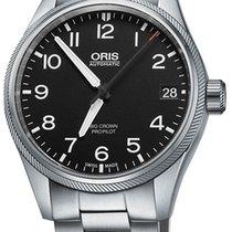 Oris Big Crown ProPilot Date, Black Dial, Steel Bracelet
