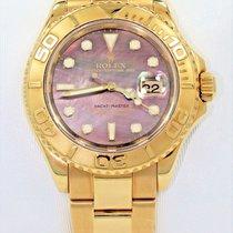 Rolex Yacht-master 16628 40mm 18k Yellow Gold Watch Tahitian...