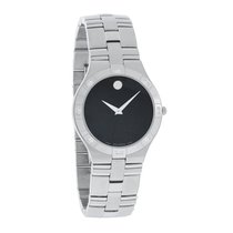 Movado Juro Diamond Mens Stainless Steel Swiss Quartz Watch...