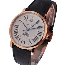 Cartier W1556220 Rotonde Large Date GMT - Rose Gold on Brown...